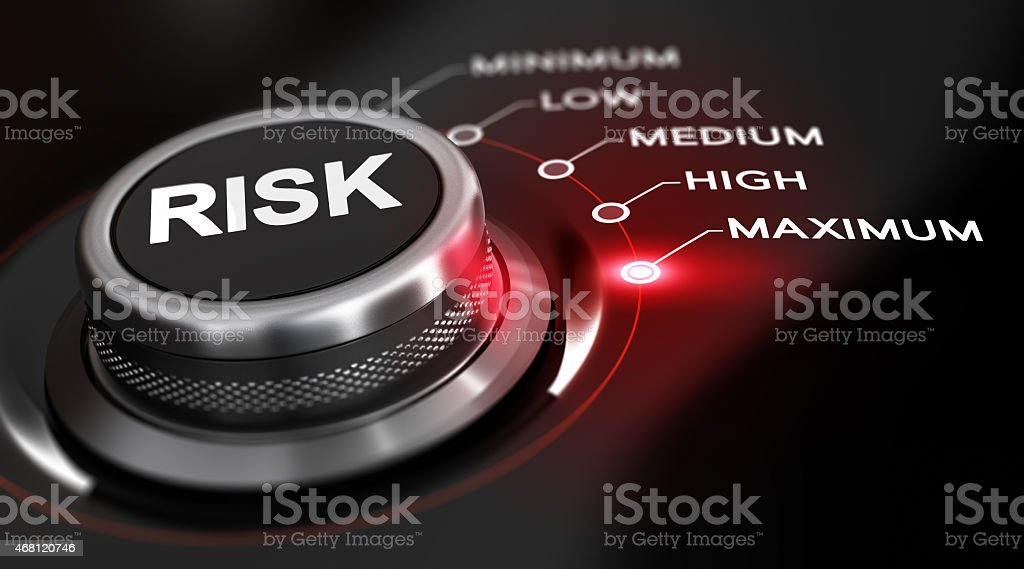 Risk Maximum stock photo