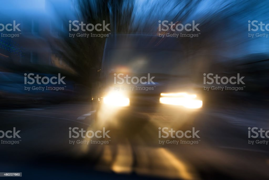 Risk of car accident stock photo