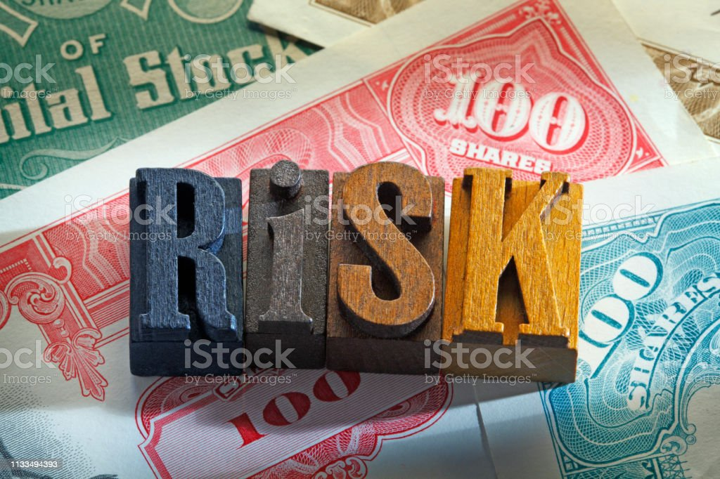 Risk Of Investing In The Stock Market stock photo