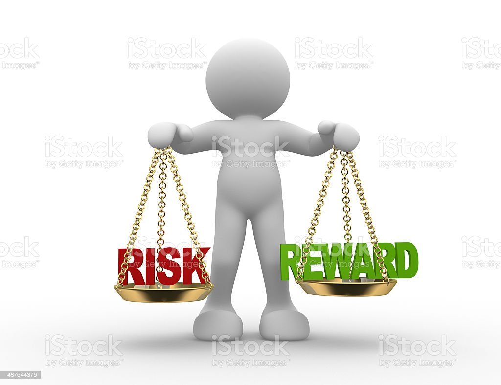 Risk or reward stock photo