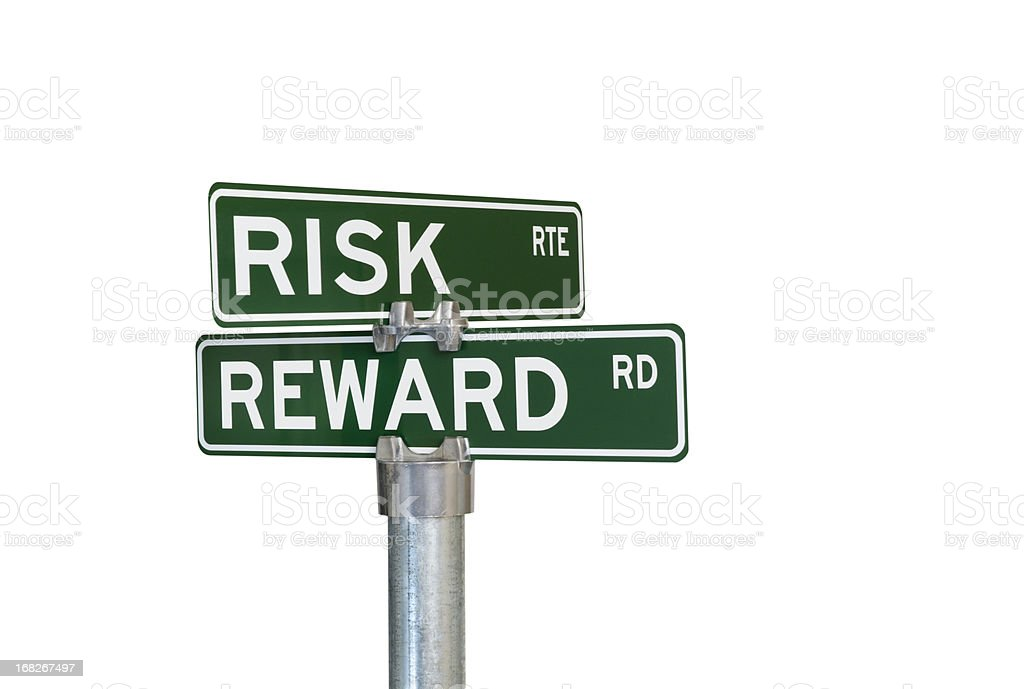 Risk Reward Intersection royalty-free stock photo