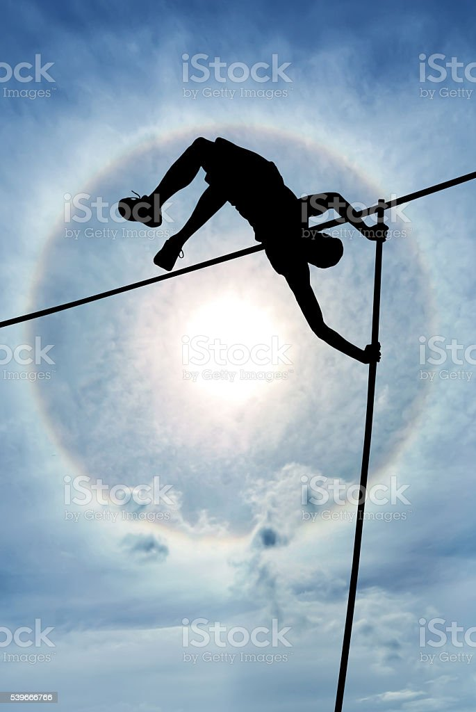 Risk taking and challenge or Overcome life difficulties Concept stock photo
