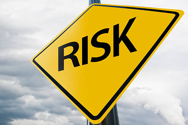 Risk / Warning sign concept (Click for more) Risk / Warning sign concept (Click for more) scrutiny stock pictures, royalty-free photos & images