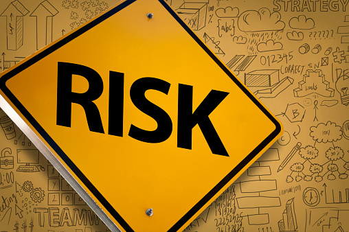 istock Risk / Warning sign concept with charts and diagrams (Click for more) 1143177657