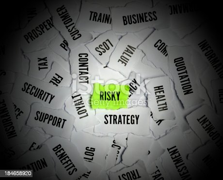 184640907istockphoto Risk Word On Paper 184658920