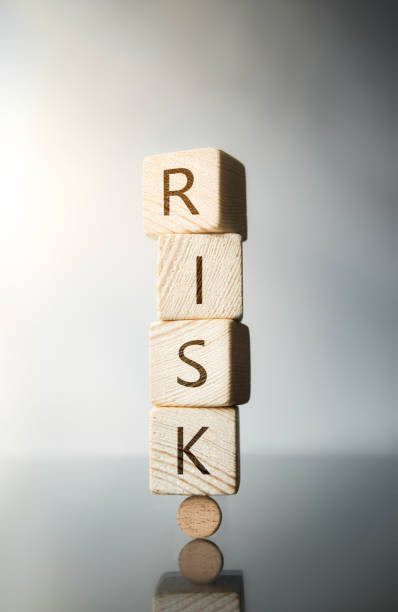 Risk Word on Wooden Block stock photo