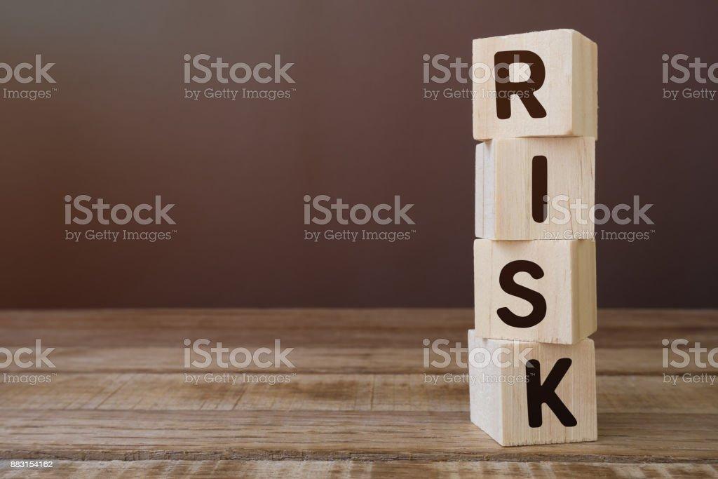 Risk Word on Wooden Block stock photo