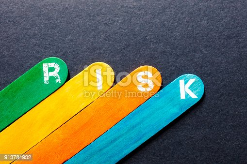 istock Risk Word on Wooden Block 913784932