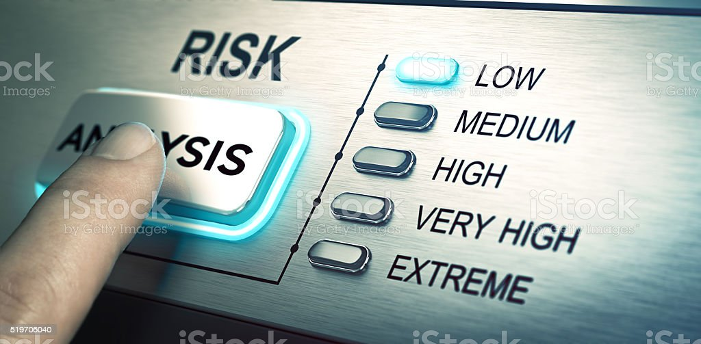 Risks analyze, low risk stock photo