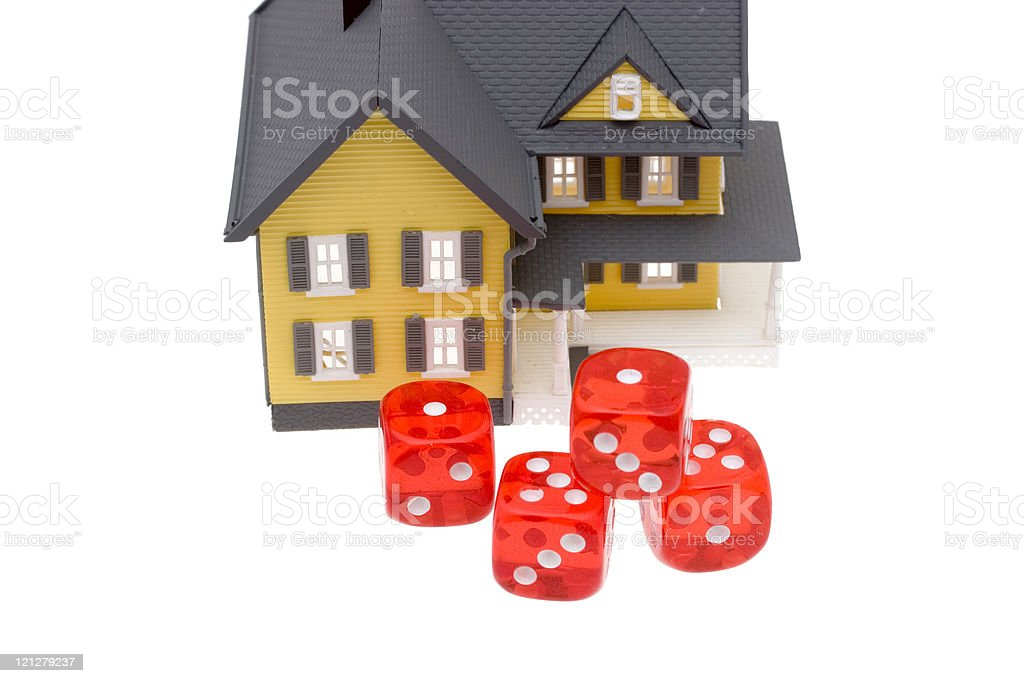 Risks of home mortgages stock photo