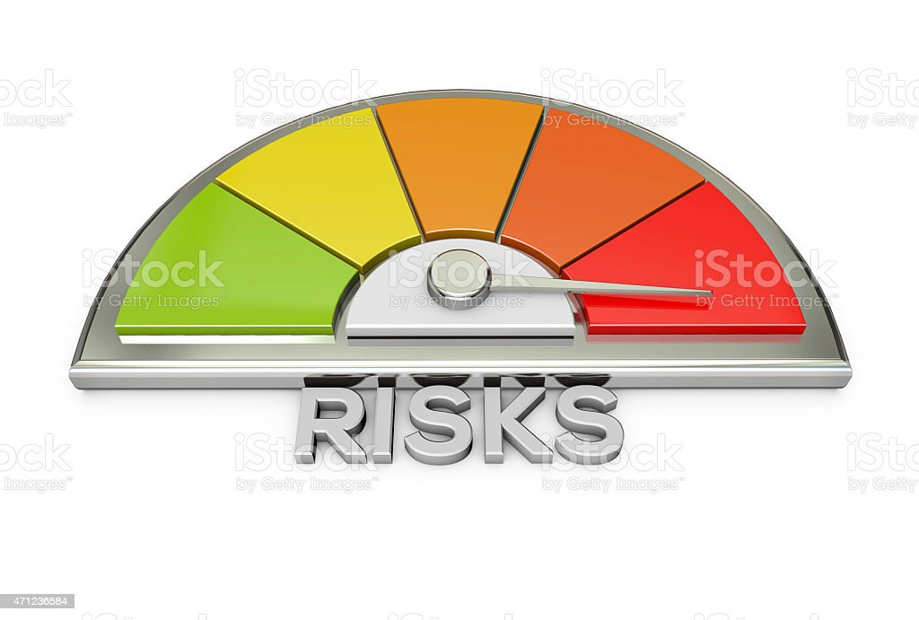 risks warning chart stock photo