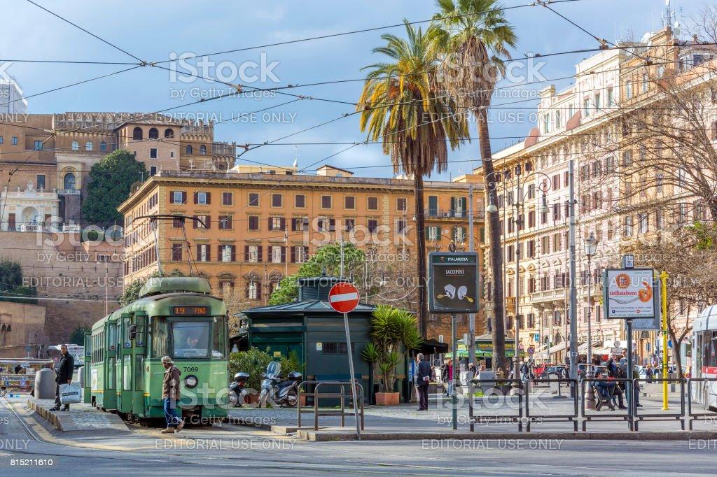 Piazza Risorgimento in Rome stock photo