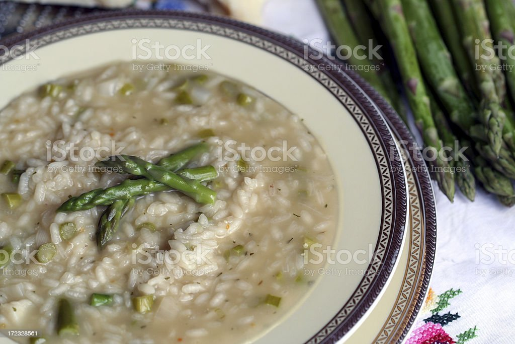 Risotto with Asparagus royalty-free stock photo