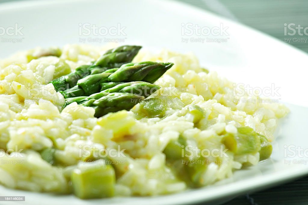 Risotto with Asparagus stock photo