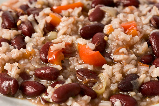 Risotto with Beans stock photo