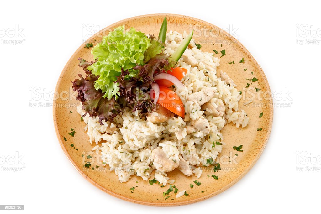 Risotto with chicken royalty-free stock photo