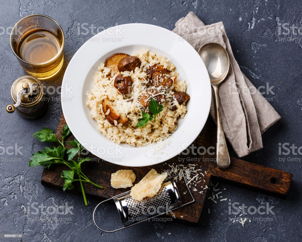 Risotto with porcini mushrooms - foto de stock