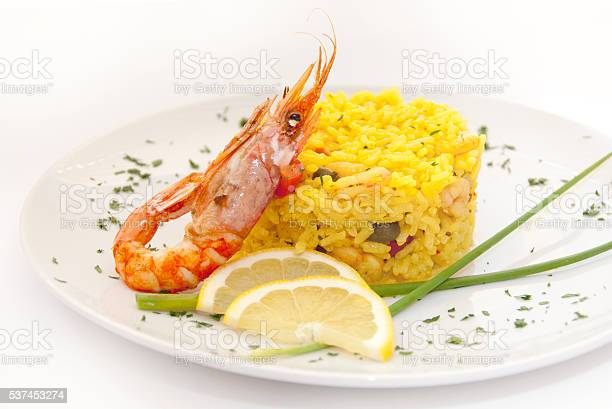 Risotto With Shrimps Stock Photo - Download Image Now