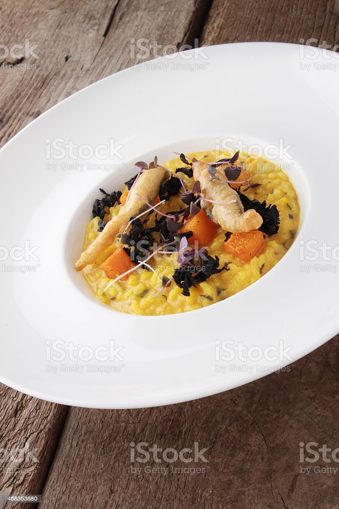 rissoto starter plated meal royalty-free stock photo