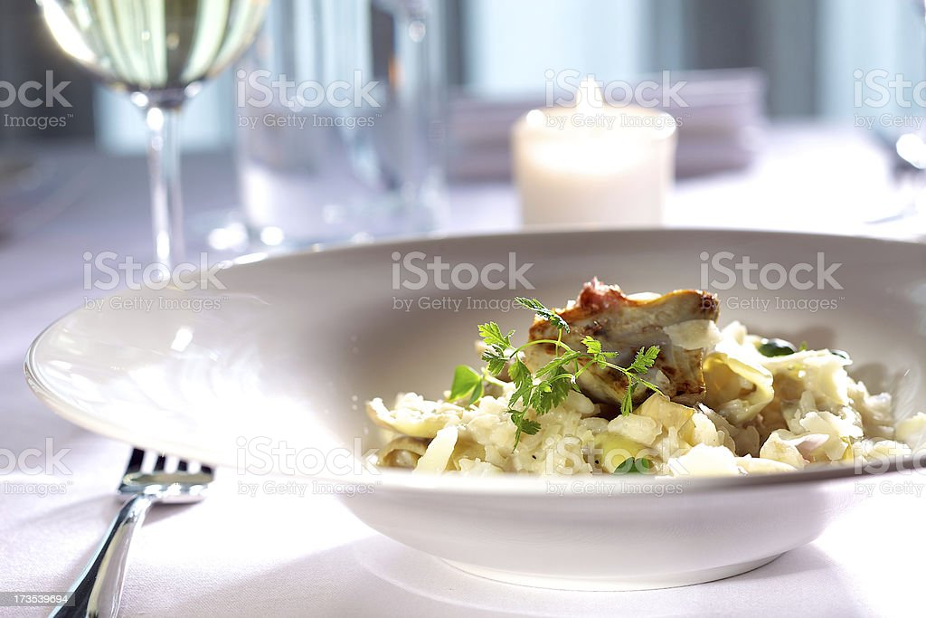 Rissotto with artichokes royalty-free stock photo