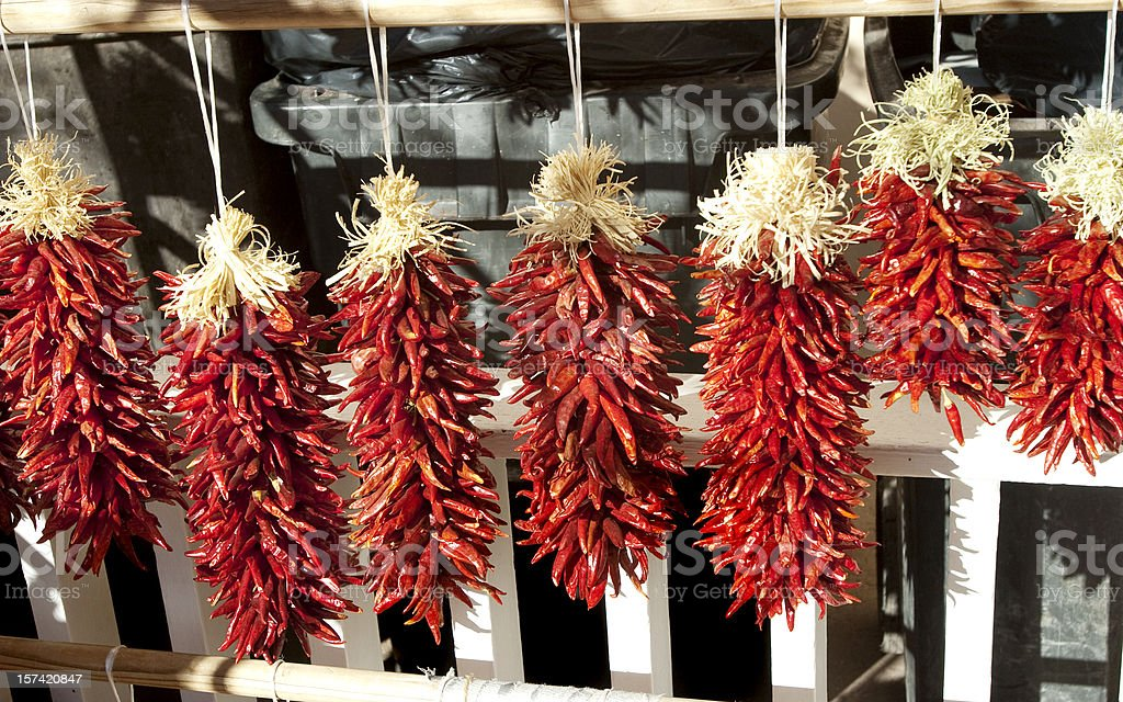 Ristras in New Mexico royalty-free stock photo