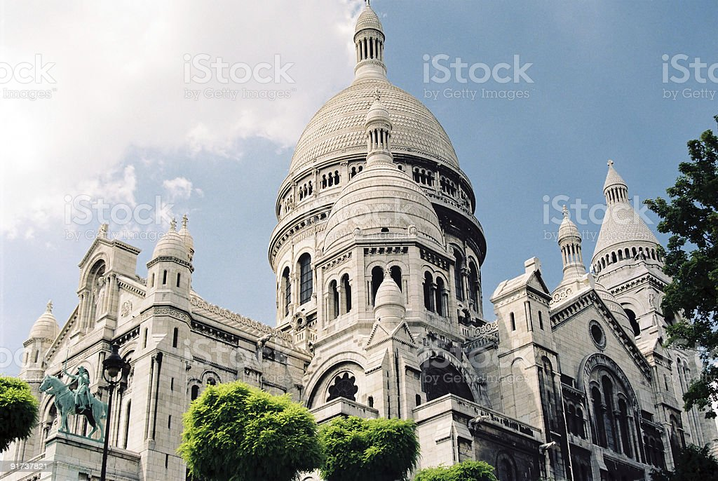 Sacre-Coeur royalty-free stock photo
