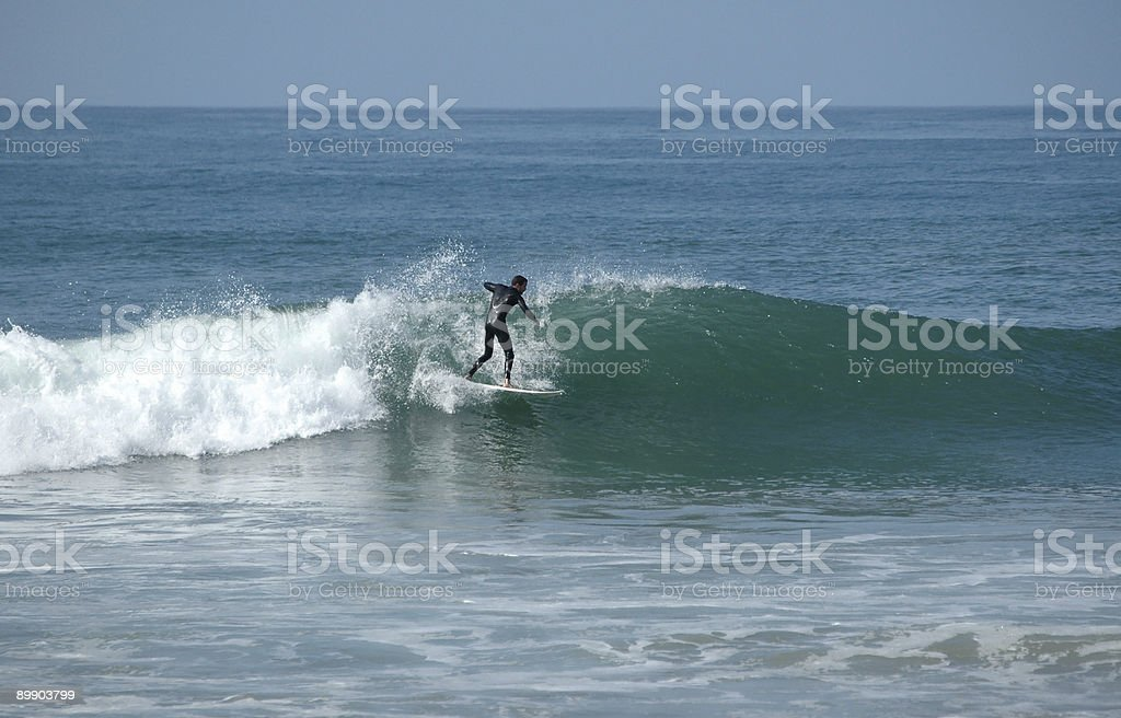 Riteous surfer on frosty wave royalty-free stock photo