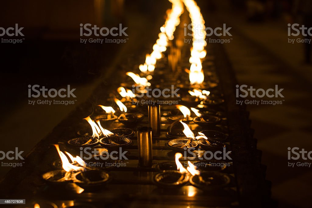 Ritual candles stock photo