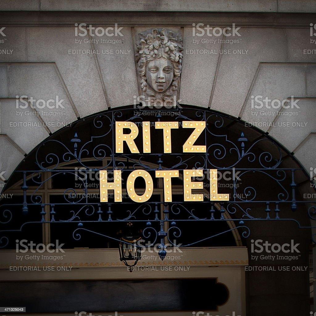Ritz Hotel in London stock photo