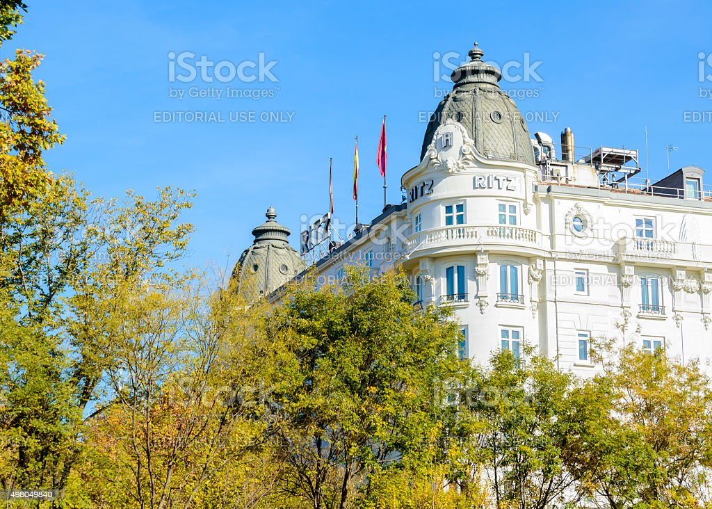 Ritz hotel stock photo