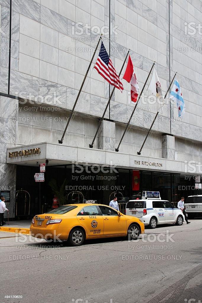 Ritz-Carlton Hotel stock photo