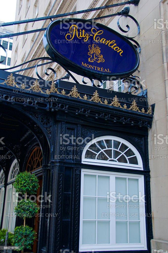 Ritz-Carlton, Montreal stock photo