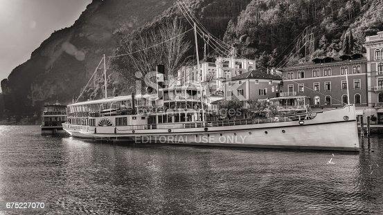 istock Riva del Garda b/n Ferry Boat 675227070