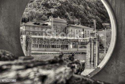 istock Riva del Garda b/n 675227080