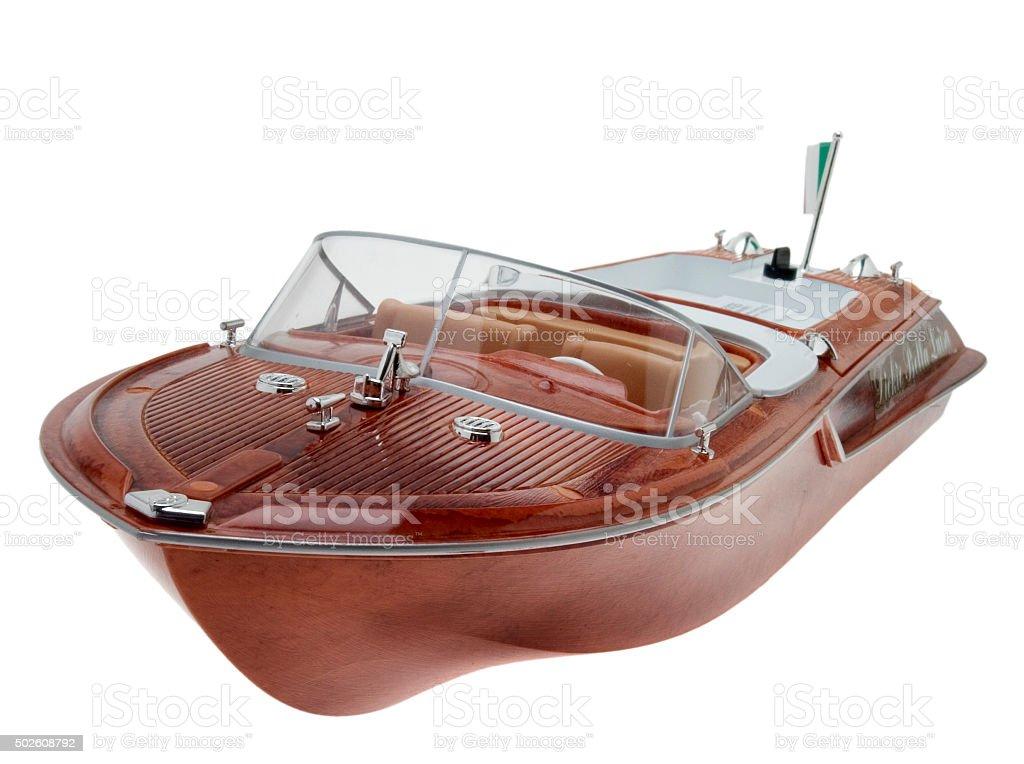 Riva Modellboot Miniatur - foto de acervo