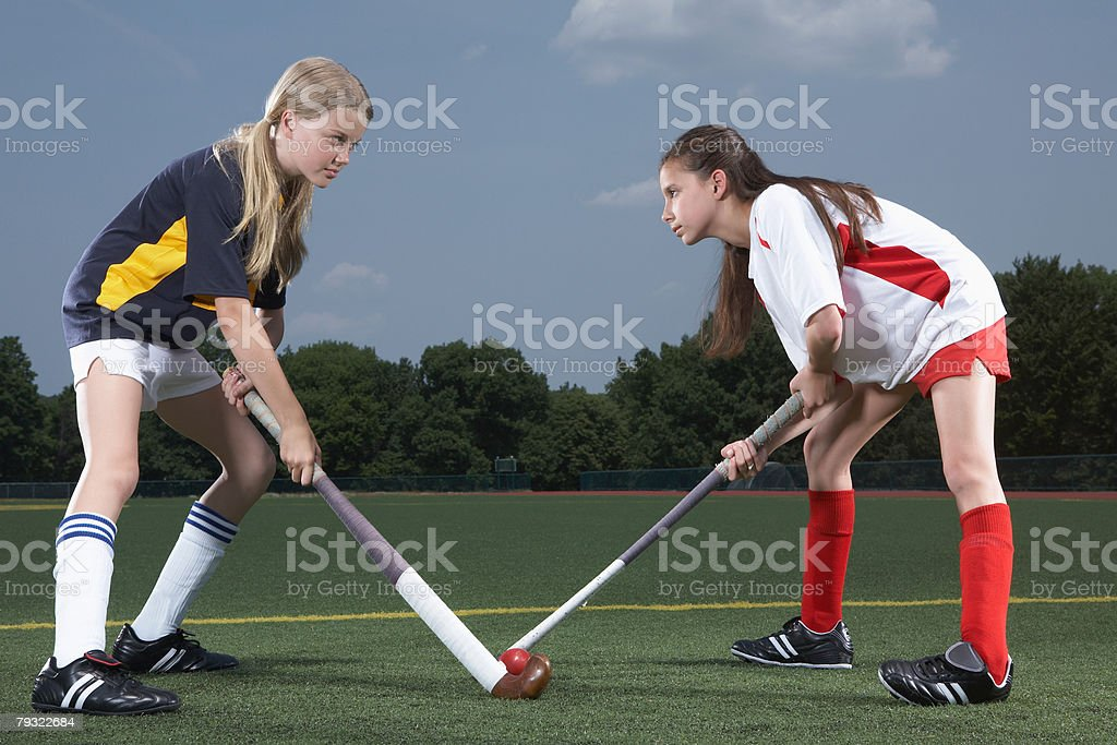 Rival hockey players 免版稅 stock photo
