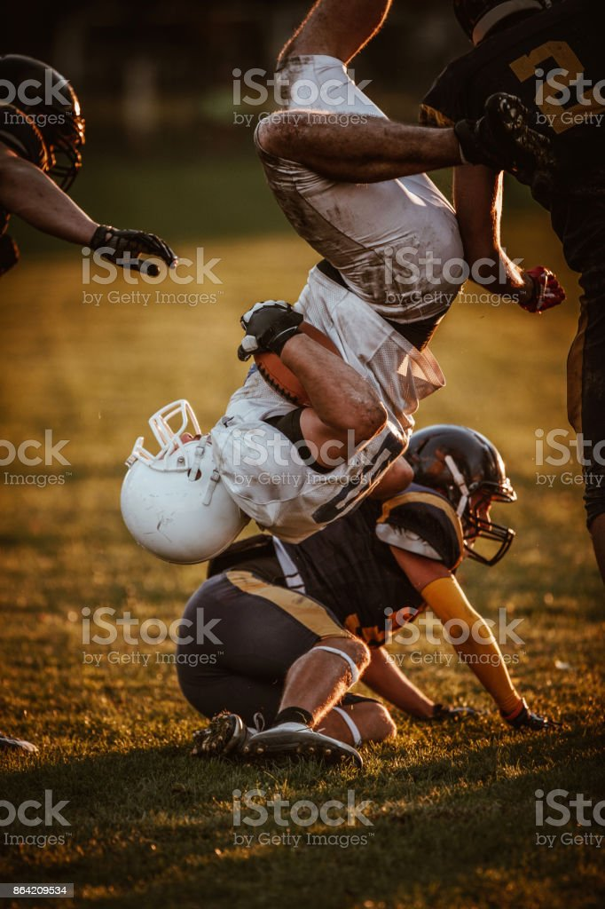 Rivalry on American football match! royalty-free stock photo