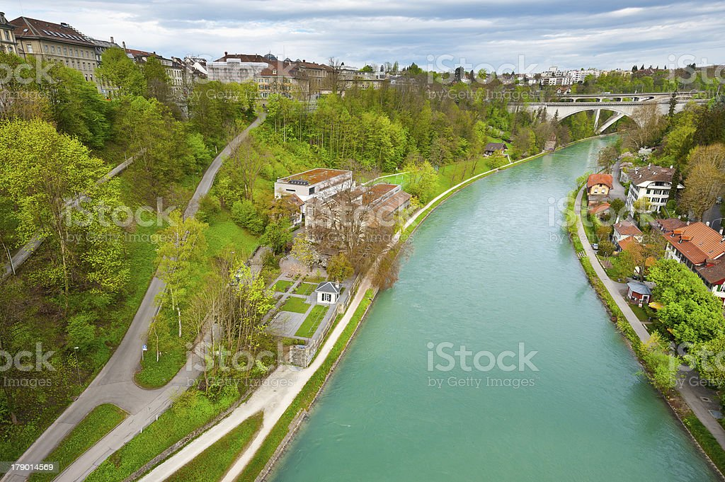 River Aare royalty-free stock photo