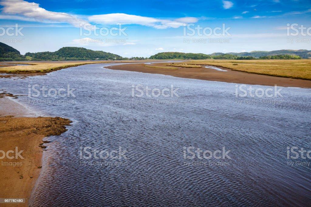 Rio adicionar Moine Mhor nacional natureza reserva Kilmartin Argyll e Bute Scotland UK - foto de acervo