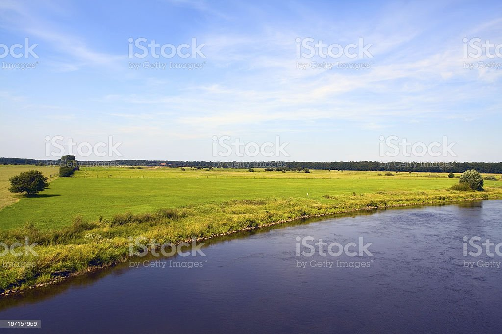 River Aller royalty-free stock photo