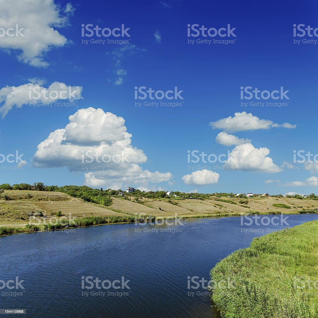 river and blue sky royalty-free stock photo