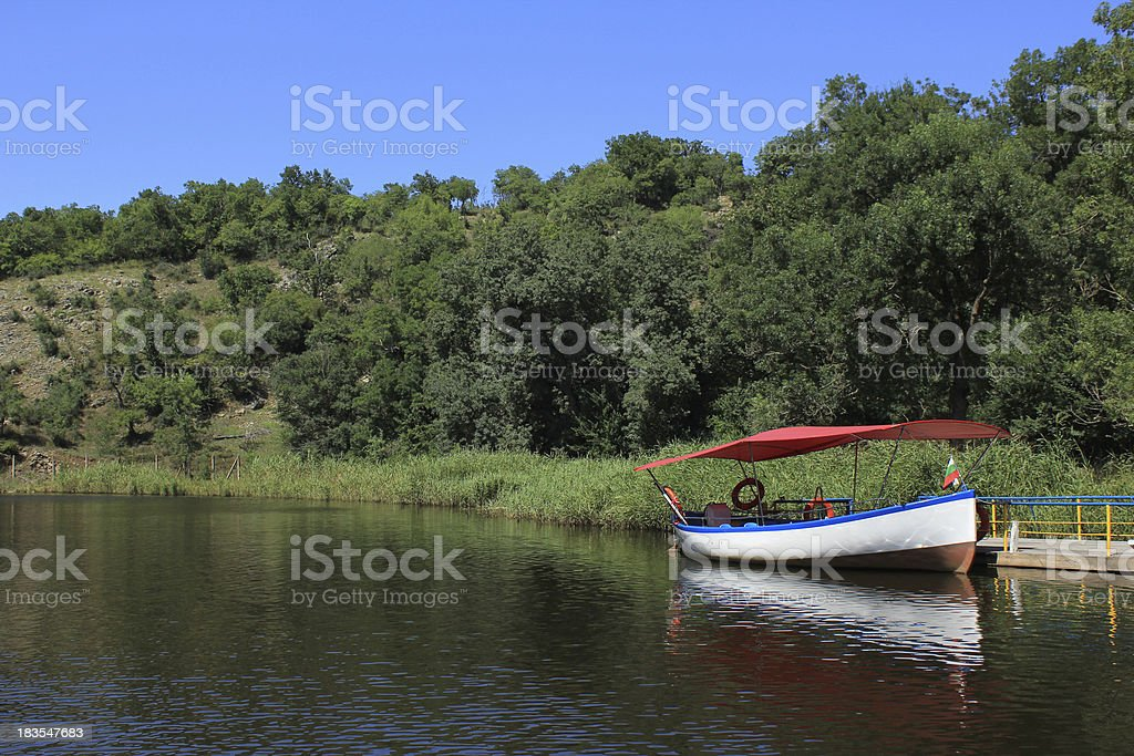River and boat royalty-free stock photo