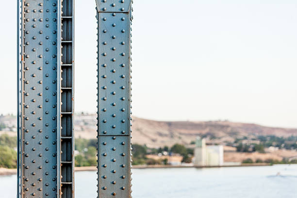 River and Rivets Bridge beam detail. girder stock pictures, royalty-free photos & images