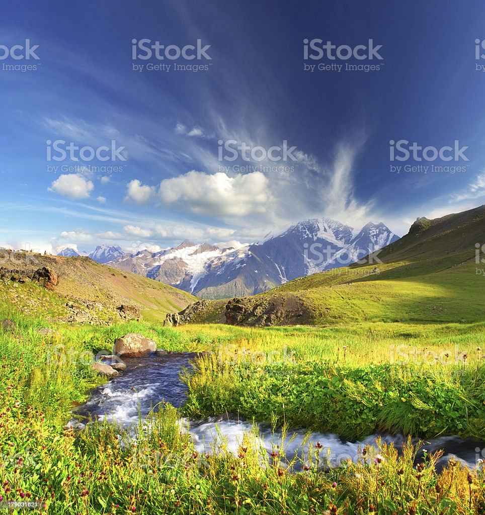 River and sky royalty-free stock photo