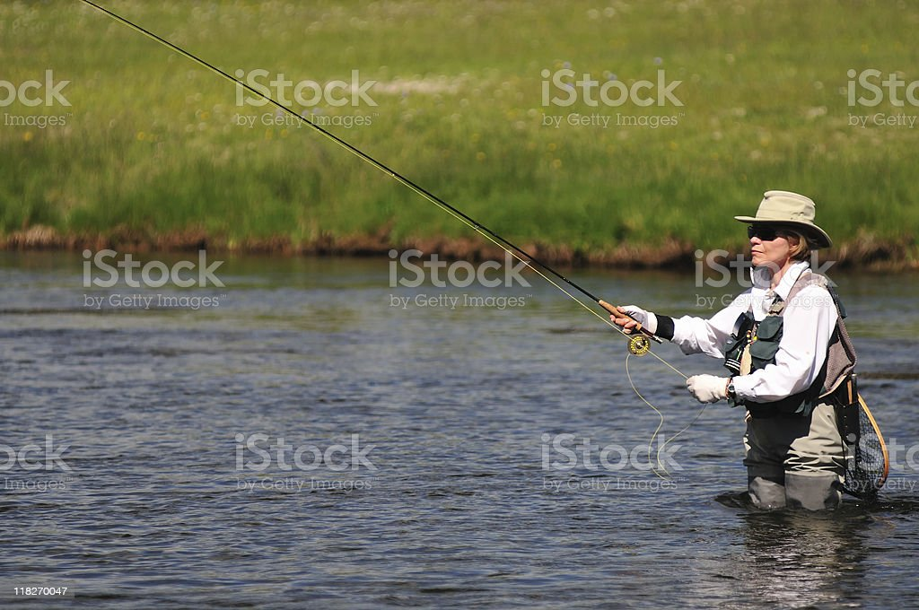 River Angler stock photo