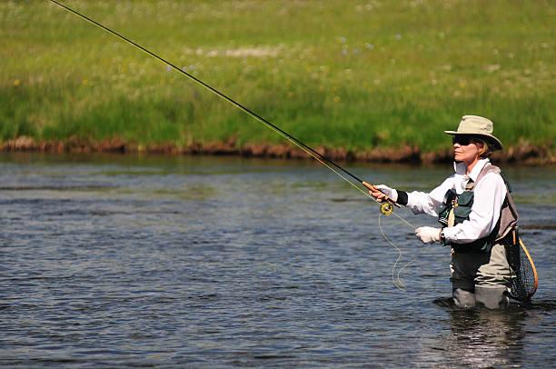 Fluss-Angler – Foto