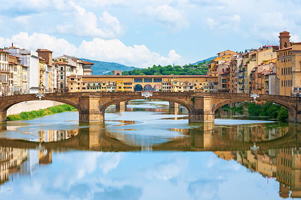 River Arno and Ponte Vecchio in Florence, Italy. River Arno and Ponte Vecchio in Florence, Italy. florence italy stock pictures, royalty-free photos & images