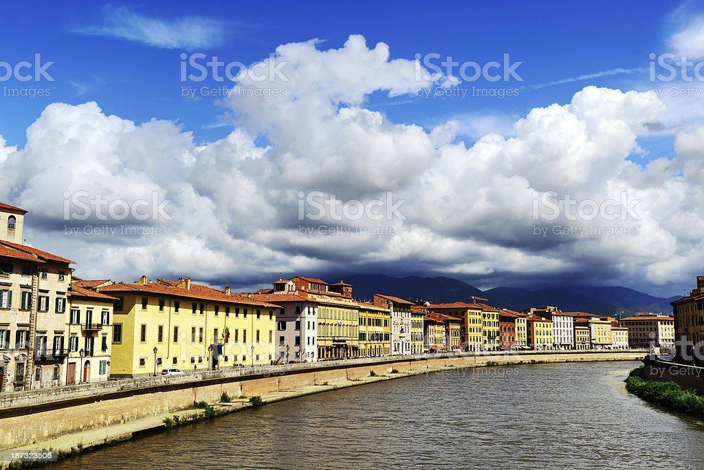 River Arno in Pisa, Italy royalty-free stock photo