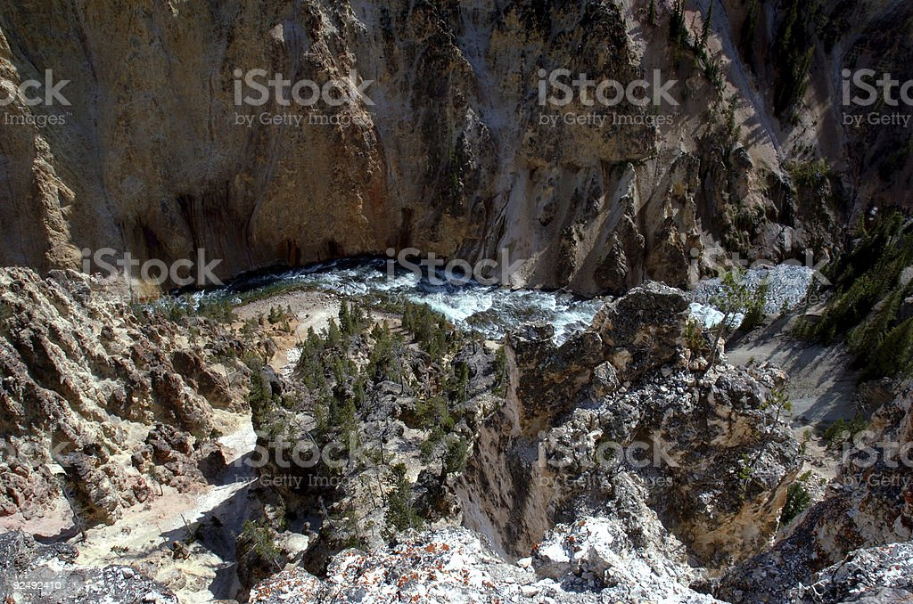 River at Bottom of Gorge royalty-free stock photo