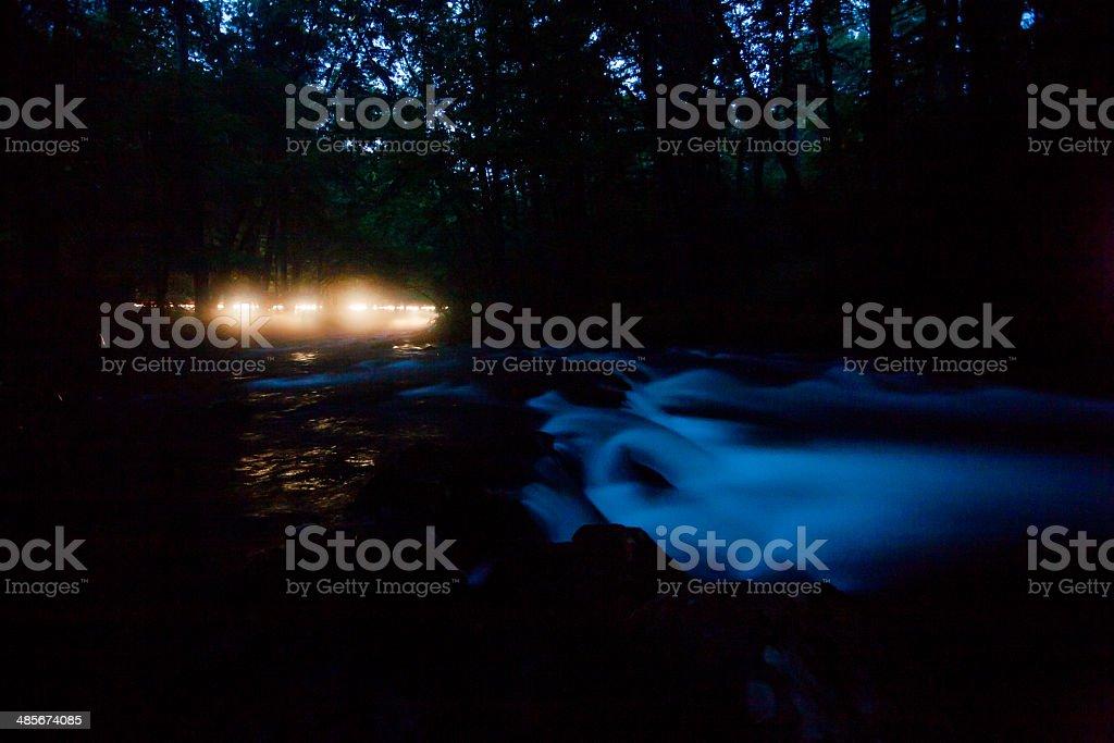 River at Night stock photo